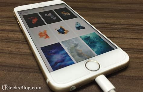 iphone live wallpaper how to set and use live wallpapers on iphone 6s and 6s plus