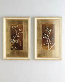 john richard collection quotgold leaf branchesquot prints With kitchen cabinets lowes with john richard wall art
