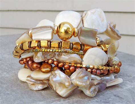 Holiday Inspired Statement Champagne Pearl, Bronze & Gold ...