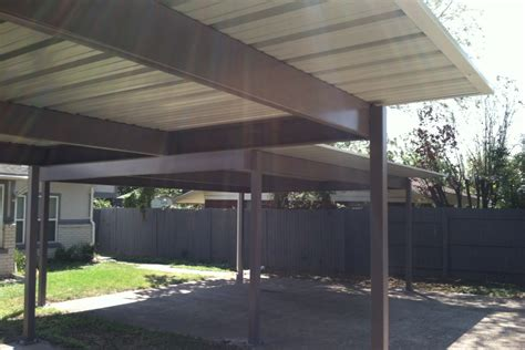 four post flat complete carports of