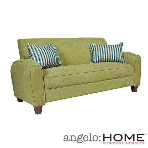 Sofa Pillows Shopping by Angelo Home Gordon Parisian Green Meadow Velvet Sofa