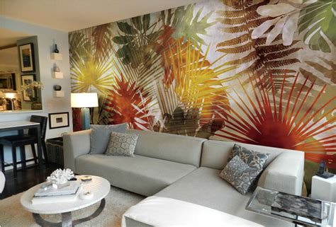 Custom Wallpaper 3d, Southeast Asian Style Palm Tree Leaf Design Living Room Colors Outdoor Sets Nice Ideas Best For Brown Furniture Decorating On A Budget Pinterest Purple And Gray Decor Teal Orange