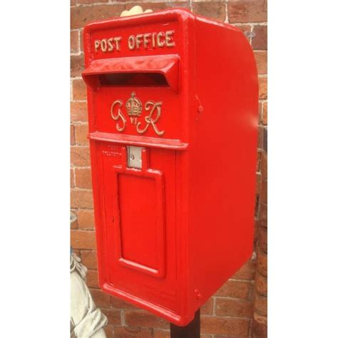 Post Box Cast Iron Replica Royal Mail Gr Red Post Box Blackbrook