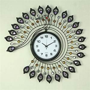 Wall, Clock, Shown, Beautiful, Homes, With, Decorative, Wall, Clock