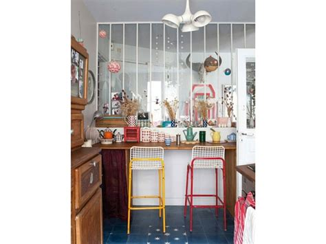 separation en verre cuisine salon top une verrire pour sparer la cuisine du salon dans cet