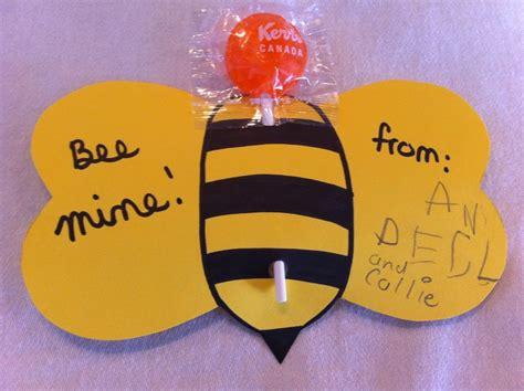 bee  valentine  kid craft