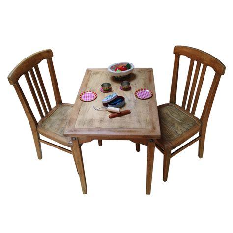 tables et chaises de cuisine ensemble table et chaises enfant rétro boutique
