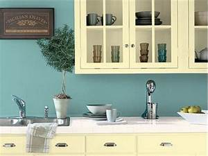 Feel a brand new kitchen with these popular paint colors for Best brand of paint for kitchen cabinets with retro kitchen wall art