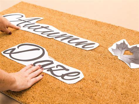 fall doormat diy stenciled fall doormat hgtv