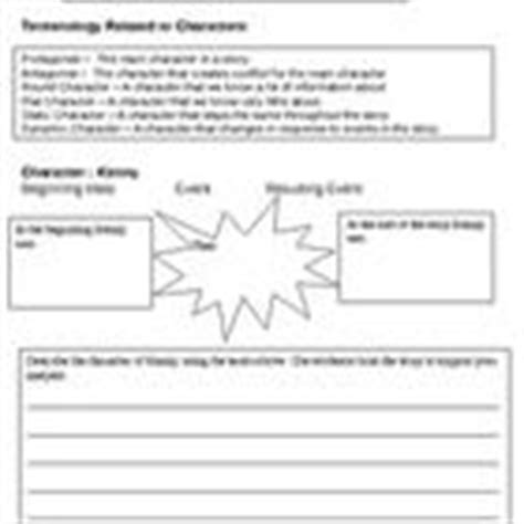 this worksheet teaches character terms antagonist