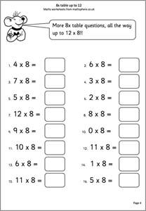 maths worksheets for 7 year olds mathsphere free sle maths worksheets