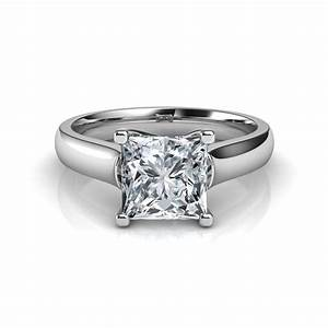 cross prong round cut solitaire engagement ring With solitaire diamond wedding rings