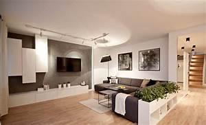 Moderne Wohnzimmer Wandgestaltung : fernseher an wand montieren die eleganteste variante ~ Michelbontemps.com Haus und Dekorationen