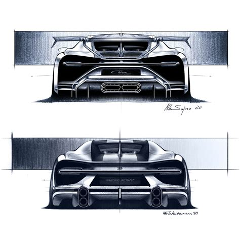 Bugatti chiron super sport 300+, bugatti centodieci, bugatti « la voiture noire » : Bugatti's hyper sports cars of extremes from a designer's point of view — Bugatti Newsroom