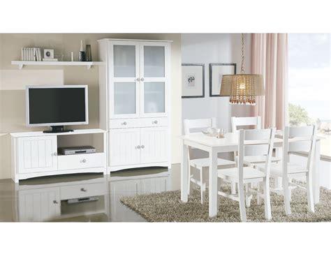 salon comedor  vitrina  mueble tv en madera color