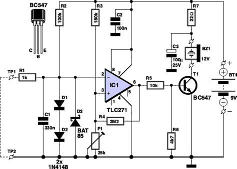 Components Voltage Tester Circuit Schematic