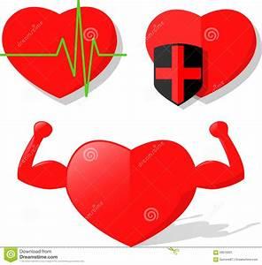 Heart Health Pulse Strength Vector Stock Vector - Image ...