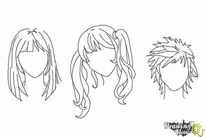 Hair Anime Draw Manga Drawing Straight Coloring
