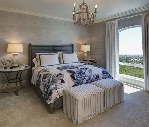 wallpaper in master bedroom elegant florida condo with coastal interiors home bunch 17773 | Bedroom neutral grasscloth wallpaper. Master Bedroom neutral grasscloth wallpaper. Master bedroom features neutral grasscloth wallpaper. Bedroom neutral grasscloth wallpaper W Design Interiors