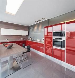 couleur pour cuisine 105 idees de peinture murale et facade With charming couleur pour salon moderne 7 cuisine rouge bordeaux but
