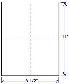 1 4 page card template 1 000 compulabel 174 430558 laser or inkjet postcards 4 1 4