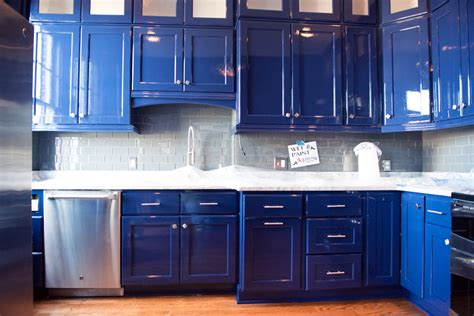cobalt blue kitchen cabinets cabinet painting richmond va 5517