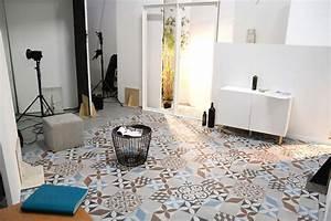 Carreaux De Ciment Adhesif Sol : vinyle carreaux de ciment ~ Premium-room.com Idées de Décoration