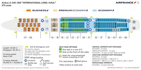 Air France Airbus A340 300 Seat Map SeatLink