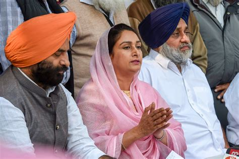 President Accepts Harsimrat Kaur's Resignation from Centre ...