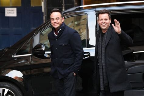 Ant McPartlin all smiles as he reunites with Dec Donnelly ...