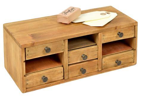 meuble en bois avec 6 tiroirs 29x13cm h 11cm bo 238 tes 224 couture rangements par clementine creations