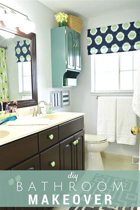 Bathroom Mirror Makeover by Diy Bathroom Makeover Reveal For The Home Bathroom