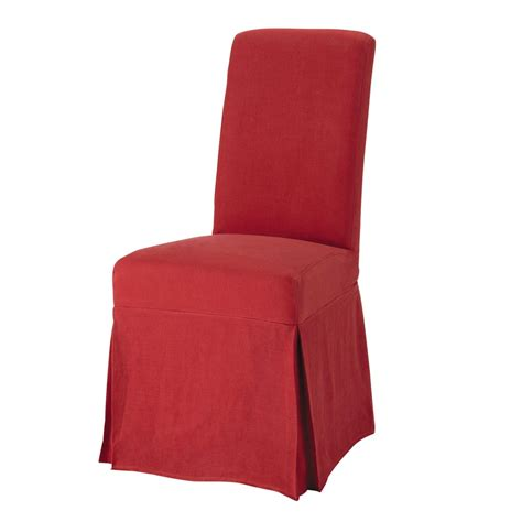 chaise margaux maison du monde washed linen chair cover in margaux maisons du