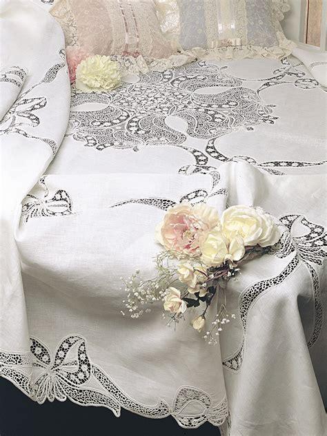 copriletto ricamato copriletto matrimoniale ricamato lino cant 249 familia service