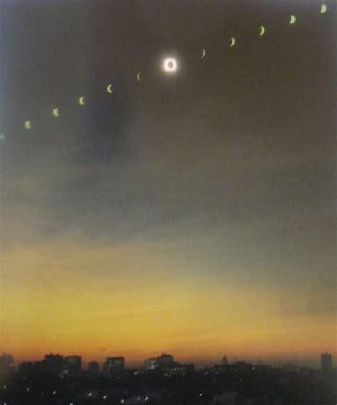 total eclipse   sun winnipeg canada  solar