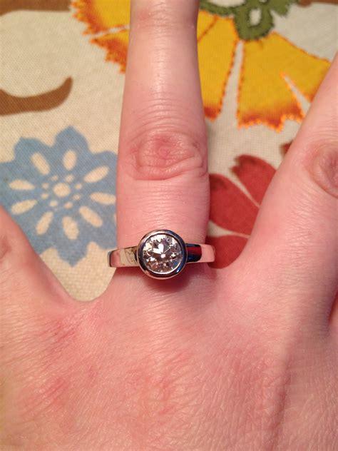 my moissanite engagement ring weddingbee