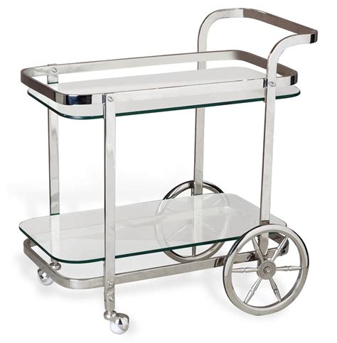 Bar Cart by Viggo Regency Rolling Silver Bar Cart Kathy