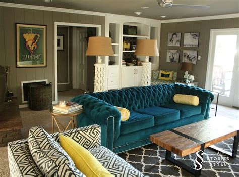 teal sofa living room ideas living room with a colorful teal sofa living room ideas