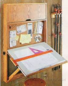 Wood Plans Toy Storage by Fold Down Drafting Table Plans Woodarchivist