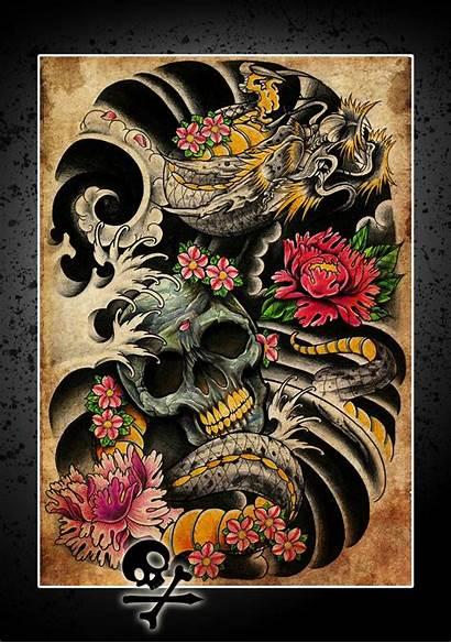 Tattoo Dragon Yakuza Japanese Deviantart Poster Thingy
