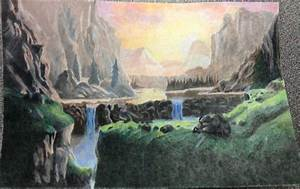 Colored Pencil Landscape by sarahattalla on DeviantArt