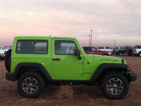 green jeep rubicon green 2013 jeep wrangler rubicon green machines