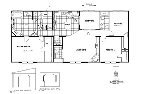 Clayton Homes Commander Floor Plans 14 215 70 mobile home floor plan ohio modular homes