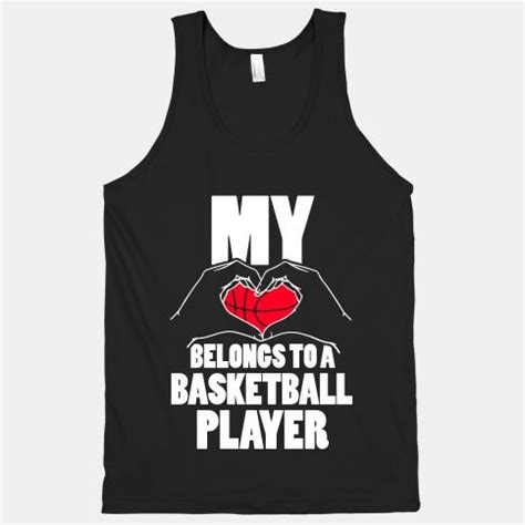 heart belongs   basketball player racerback tank