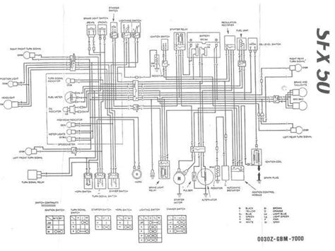 Yamaha Scooter Wiring Diagram Ga by Sfx Ledningsnet Diverse Scooter Uploadet Af