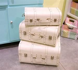Shabby Chic Truhe : deko koffer set retro vintage shabby chic truhe set 3 tlg in m bel wohnen m bel truhen ~ Sanjose-hotels-ca.com Haus und Dekorationen