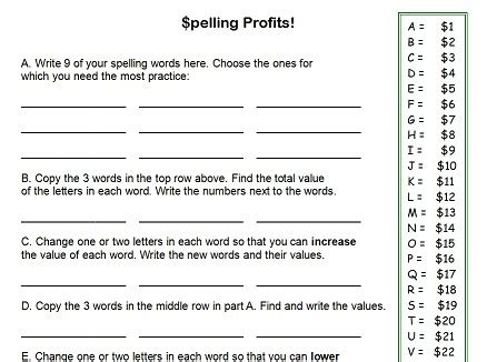 spelling worksheets for 4th grade fourth grade worksheets for spelling practice