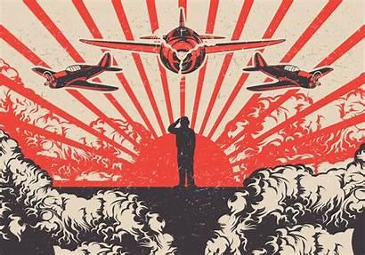 Kamikaze War Vector Background Planes Soldier Vectors