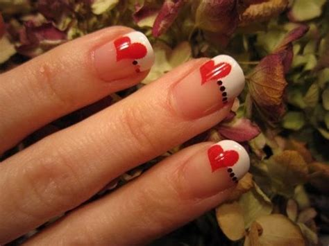 latest red heart nail art design ideas