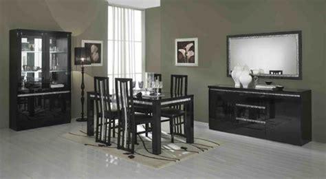 table et chaise cuisine fly salle a manger complete cromo laque noir